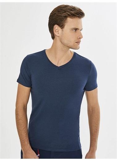 Xint XINT V Yaka Modal Basic Tişört Lacivert